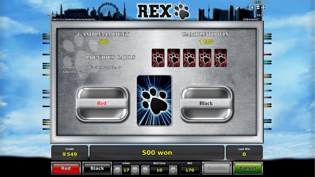 Характеристики слота Rex 5