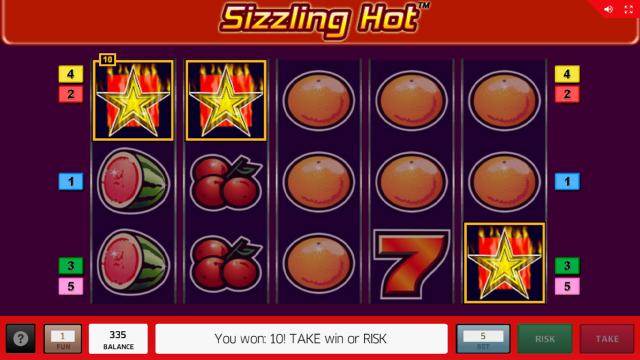 Бонусная игра Sizzling Hot 12