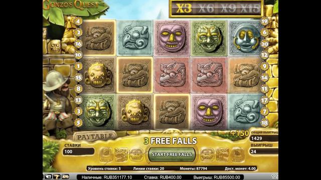 Характеристики слота Gonzo's Quest Extreme 9