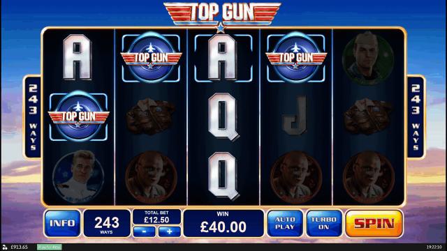 Характеристики слота Top Gun 6