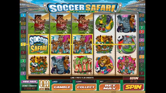 Игровой интерфейс Soccer Safari 8