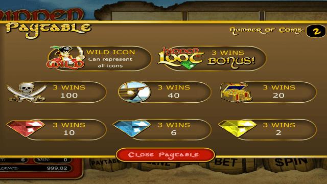 Игровой интерфейс Hidden Loot 1