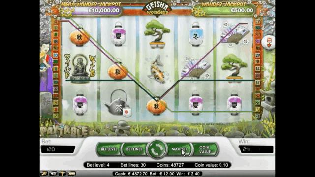 Игровой интерфейс Geisha Wonders 5