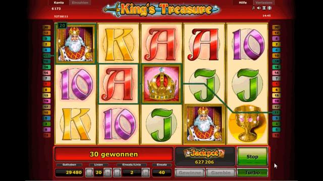 Игровой интерфейс King's Treasure 9