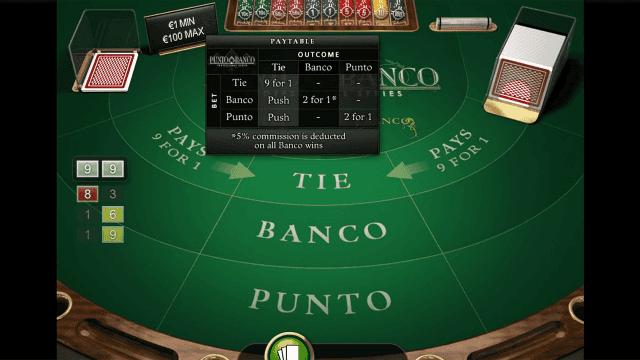 Бонусная игра Punto Banco Professional Series 6