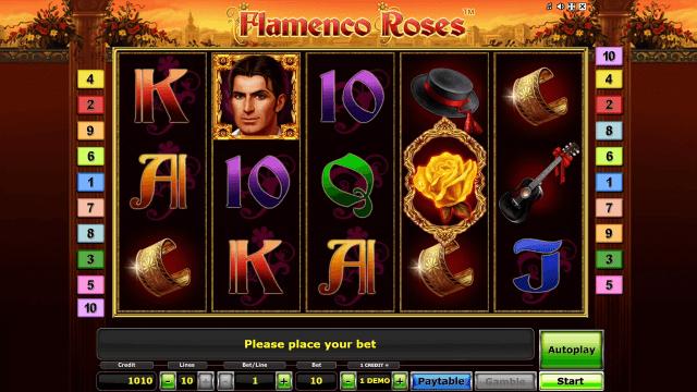 Игровой интерфейс Flamenco Roses 6