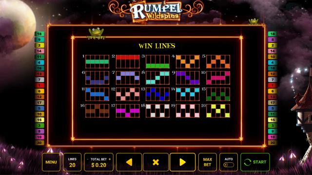 Игровой интерфейс Rumpel Wildspins 3