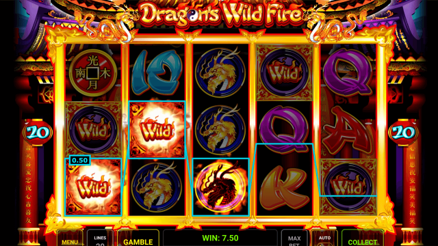 Характеристики слота Dragon's Wild Fire 2
