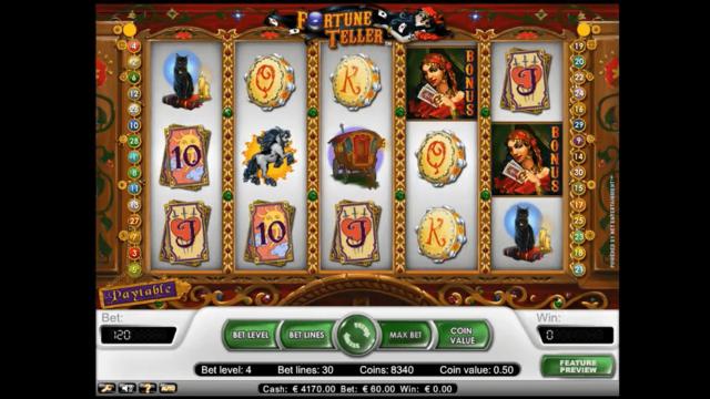 Бонусная игра Fortune Teller 9