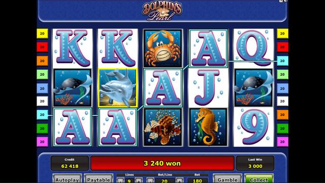 Бонусная игра Dolphin's Pearl 3