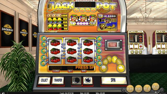 Игровой интерфейс Jackpot 6000 8
