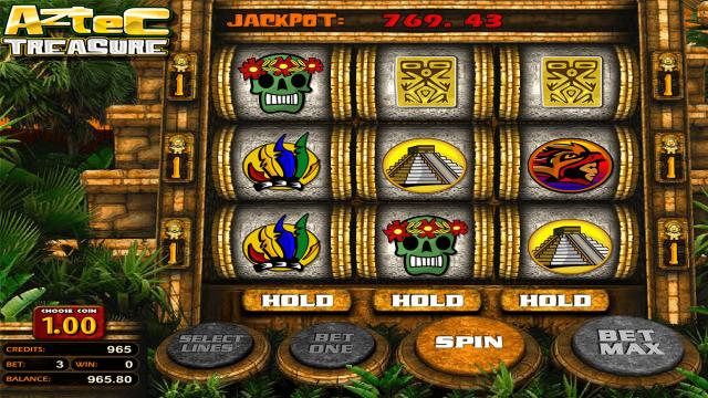 Характеристики слота Aztec Treasure 2D 6