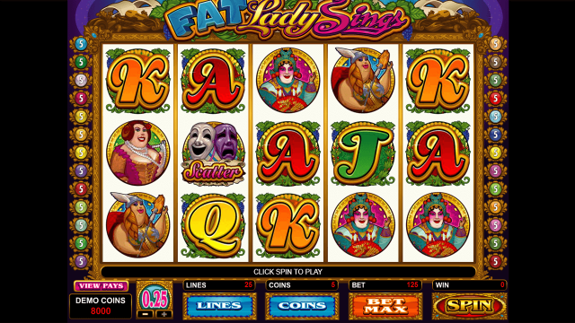 Бонусная игра Fat Lady Sings 1