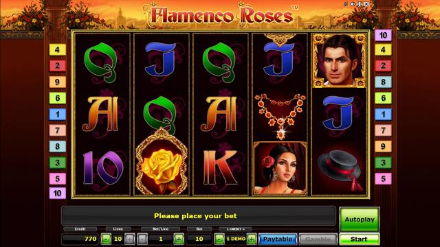Игровой интерфейс Flamenco Roses 8