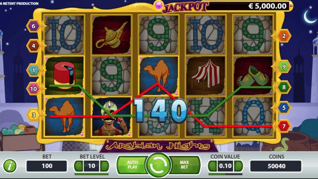 Игровой интерфейс Arabian Nights 4