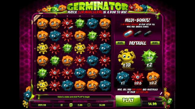 Игровой интерфейс Germinator 10