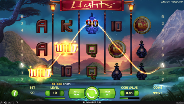 Характеристики слота Lights 8