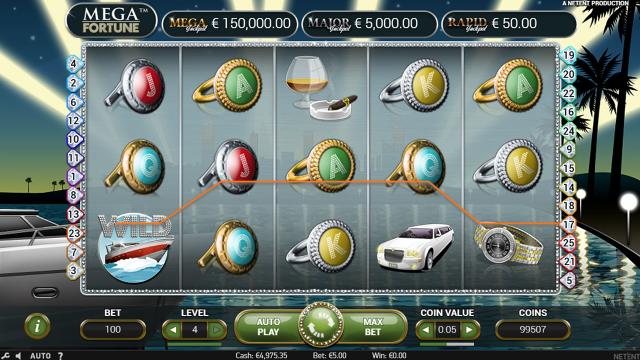 Игровой интерфейс Mega Fortune 9