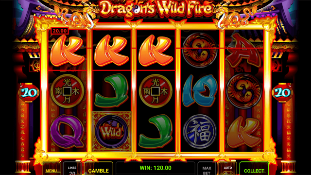 Характеристики слота Dragon's Wild Fire 9