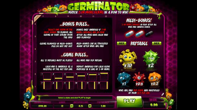 Характеристики слота Germinator 5