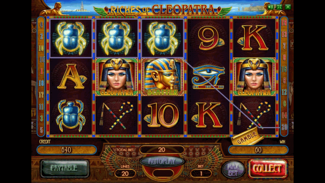Бонусная игра Riches Of Cleopatra 2