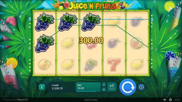 Характеристики слота Juice 'N' Fruits 8
