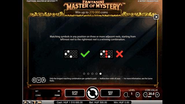 Бонусная игра Fantasini: Master Of Mystery 4
