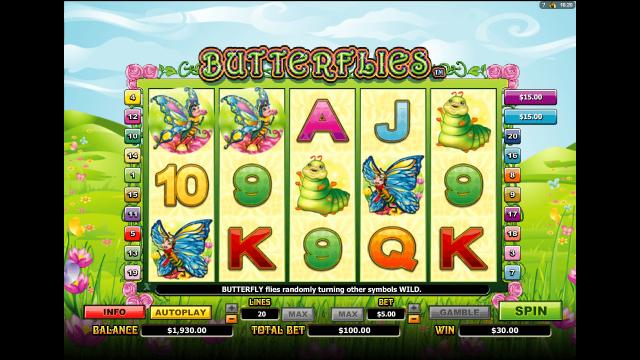 Бонусная игра Butterflies 7