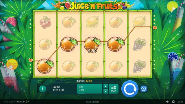 Игровой интерфейс Juice 'N' Fruits 3