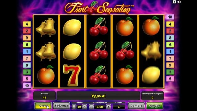 Бонусная игра Fruit Sensation 5