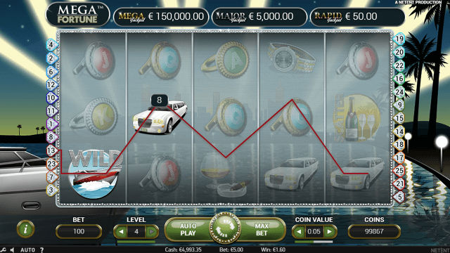 Игровой интерфейс Mega Fortune 8