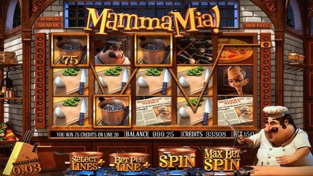 Характеристики слота Mamma Mia 9