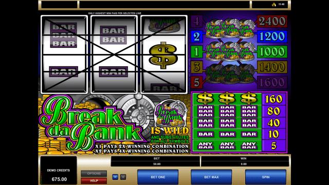 Бонусная игра Break Da Bank 6