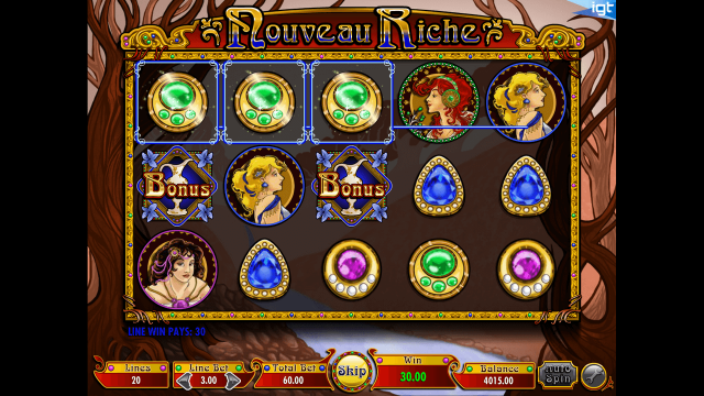 Игровой интерфейс Nouveau Riche 6