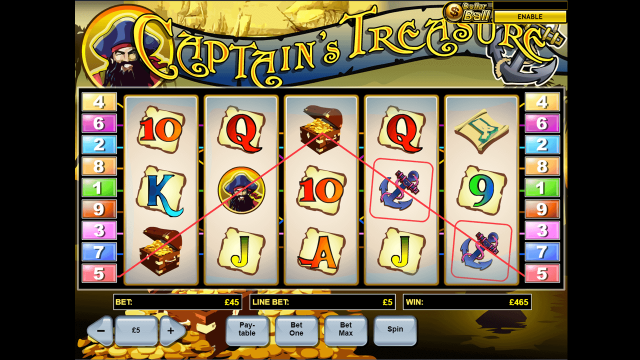 Бонусная игра Captain's Treasure 9