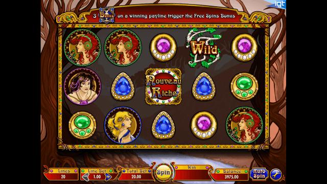 Игровой интерфейс Nouveau Riche 1