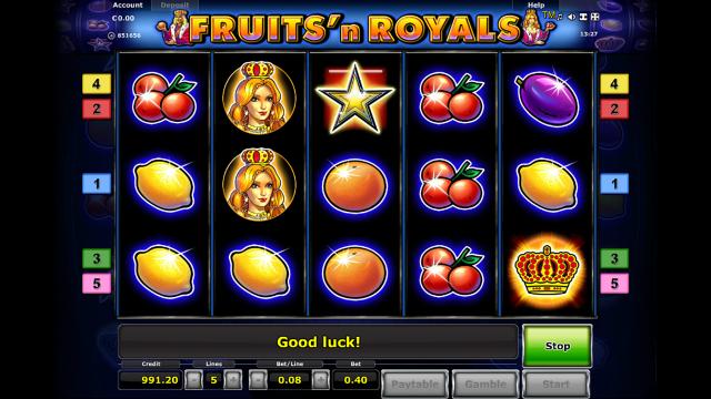 Бонусная игра Fruits And Royals 7