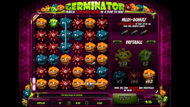 Характеристики слота Germinator 1