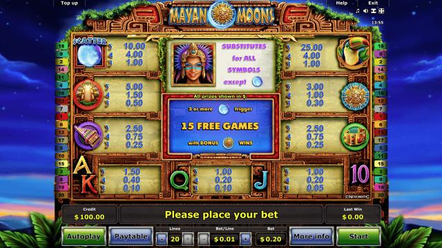 Игровой интерфейс Mayan Moons 2