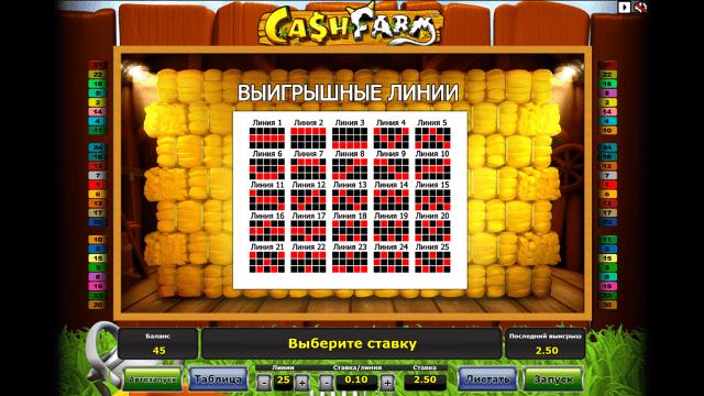 Игровой интерфейс Cash Farm 1