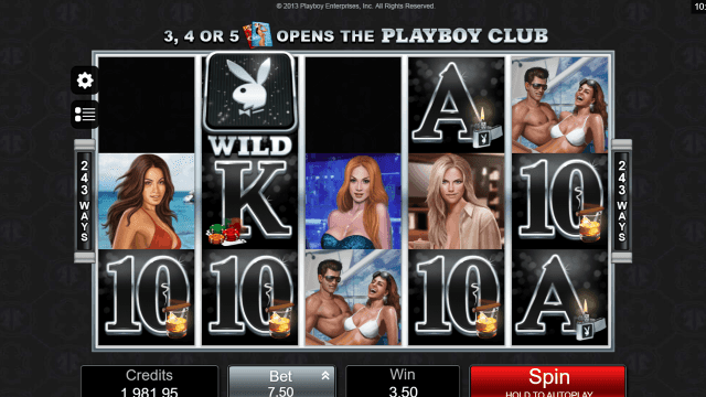 Характеристики слота Playboy 17