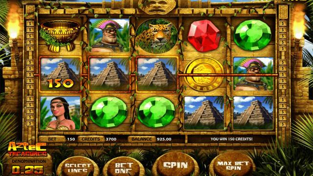 Игровой интерфейс Aztec Treasures 3D 3