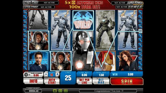 Игровой интерфейс Iron Man 2 5