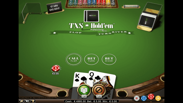Игровой интерфейс TXS Hold'em Pro Series 4