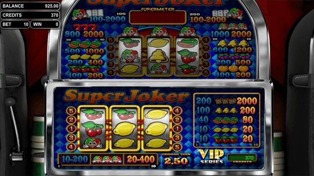 Игровой интерфейс Super Joker VIP 2