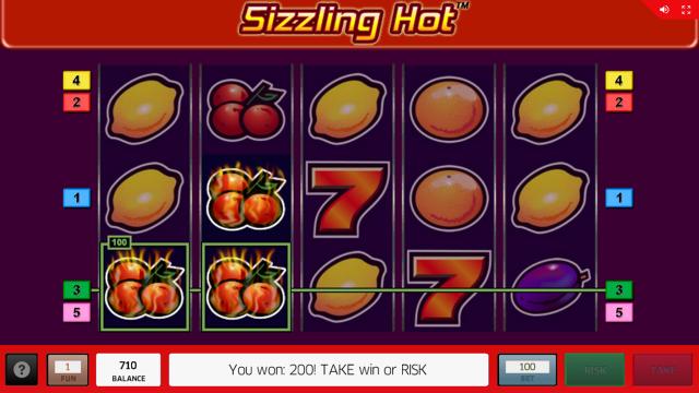 Бонусная игра Sizzling Hot 15