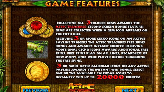 Бонусная игра Aztec Treasures 3D 7