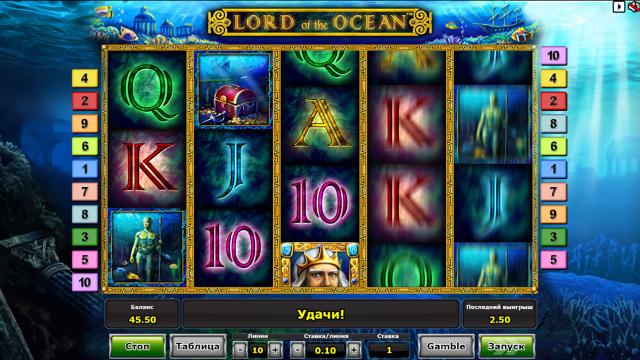 Характеристики слота Lord Of The Ocean 7