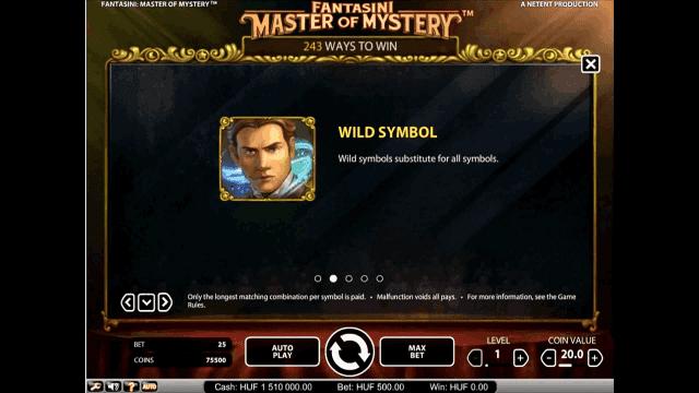 Бонусная игра Fantasini: Master Of Mystery 2