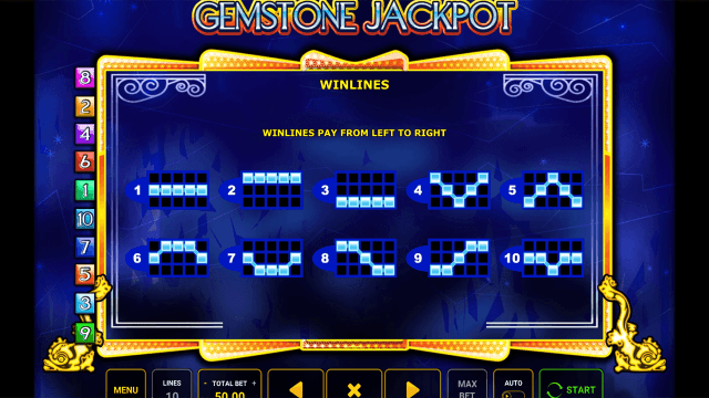 Характеристики слота Gemstone Jackpot 8